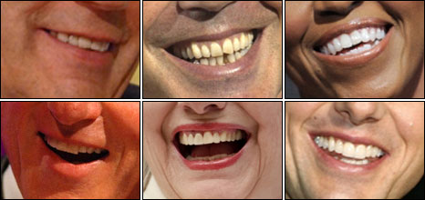Clockwise from top left: Gordon Brown, Tony Blair, Michelle Obama, Tom Cruise, Hillary Clinton and husband Bill