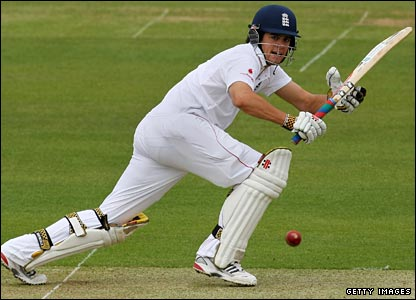 Alastair Cook on-drives