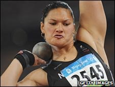 Olympic shot put champion Valerie Vili