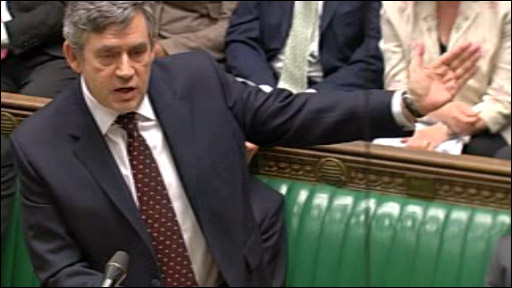 Gordon Brown at the despatch box
