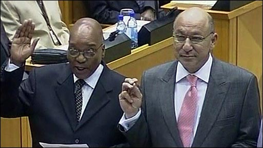 Jacob Zuma (left)