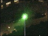 The beam from a laser- generic
