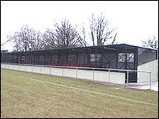 Grandstand at Poole Town's Tatnam Park