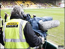 Setanta cameras capture the action