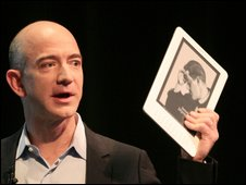 Jeff Bezos with Kindle DX