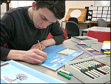 Animation student David Grice