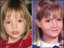 Pictures of Madeleine McCann