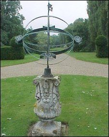 The late 17th Century astronomical sphere stolen from Mr Johnson's garden