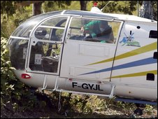 The helicopter used in the prison escape