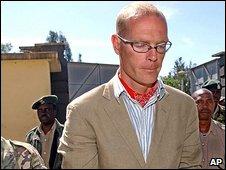 File photo of Thomas Cholmondeley arriving at court in Nairobi in 2005
