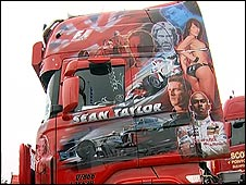 Brightly-painted truck at Truckfest