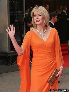 Joanna Lumley arrives at the 2008 Baftas