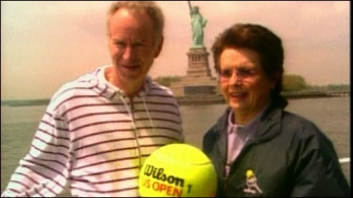 John McEnroe and Billie Jean King