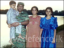 Velupillai Prabhakaran with his family