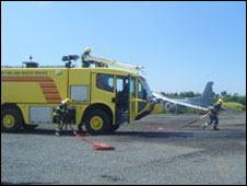 Guernsey Airport firefighters