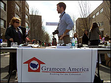Grameen Bank borrowers' fair in New York