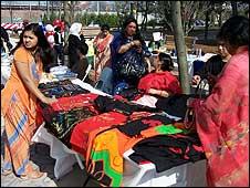Grameen Bank borrowers' fair in New York