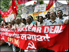 Protests against the Indian nuclear deal