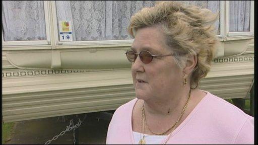 Brenda Shier, caravan owner