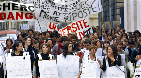 Student protest in Bordeaux (2 April 2009)