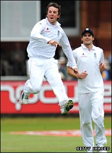 Swann leaps for joy
