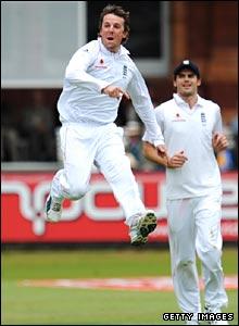 Swann leaps for joy