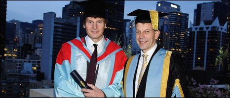 Liam Neeson and Professor Peter Gregson