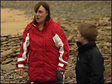 Tracey Myers with her son