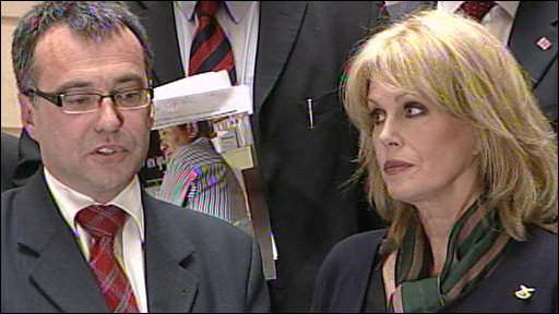 Immigration Minister Phil Woolas with Joanna Lumley