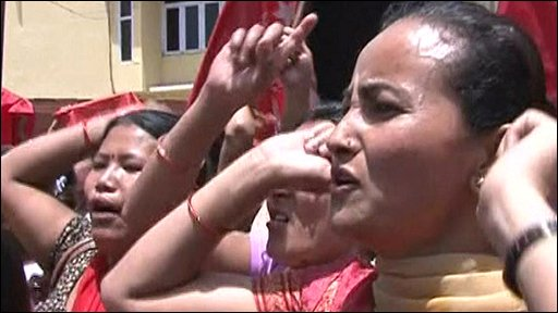 Women protesters in Nepal