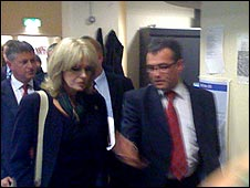 Joanna Lumley and Phil Woolas (PIC: Xanthe Hinchey)