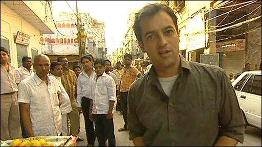 Damian Grammaticas in old Delhi
