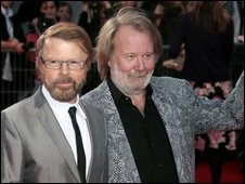 Bjorn Ulvaeus (L) and Benny Andersson of Abba