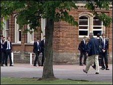 pupils in school grounds