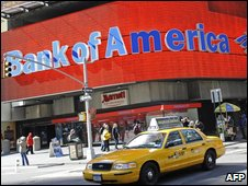 Bank of America billboard in Times Square