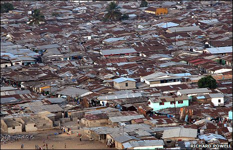 Liberia's largest slum, Westpoint