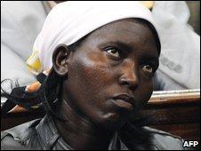 Sarah Njoya, the widow of Robert Njoya