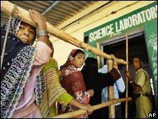 Voters in Delhi