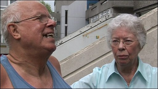 Sheila and Allan Harris in the Tavy Bridge estate