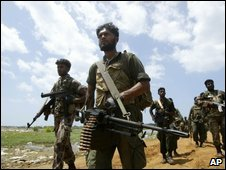 Sri Lankan soldiers in the north-east