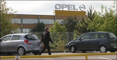 The Opel factory in Kaiserslautern