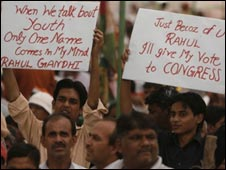 Supporters of Rahul Gandhi