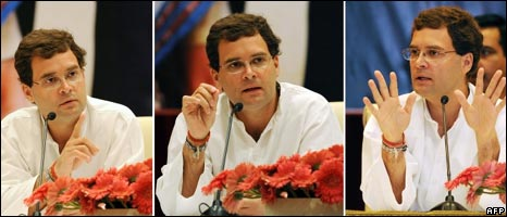 Rahul Gandhi addresses a press conference in Delhi
