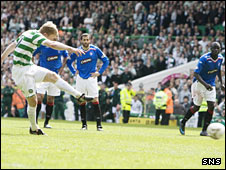 Barry Robson scores a penalty