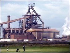 The Corus plant on Redcar