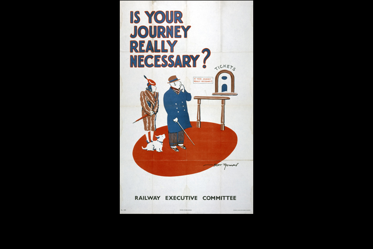 Wartime railway posters