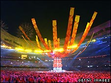 Closing ceremony of the 2008 Olympics in Beijing