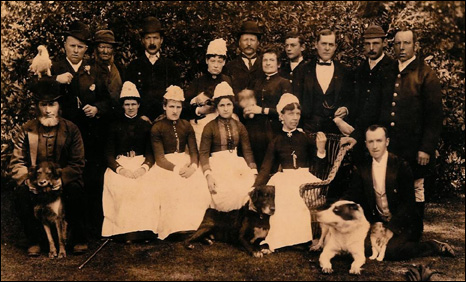 James Baxter and the household staff