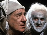 Michael Horden as Ebenezer Scrooge and John Le Mesurier as Marley's Ghost
