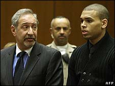 Mark Geragos with Chris Brown